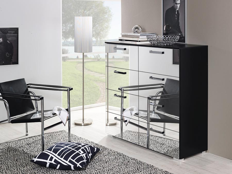 Calero bedside and Chests (Mirror Front)