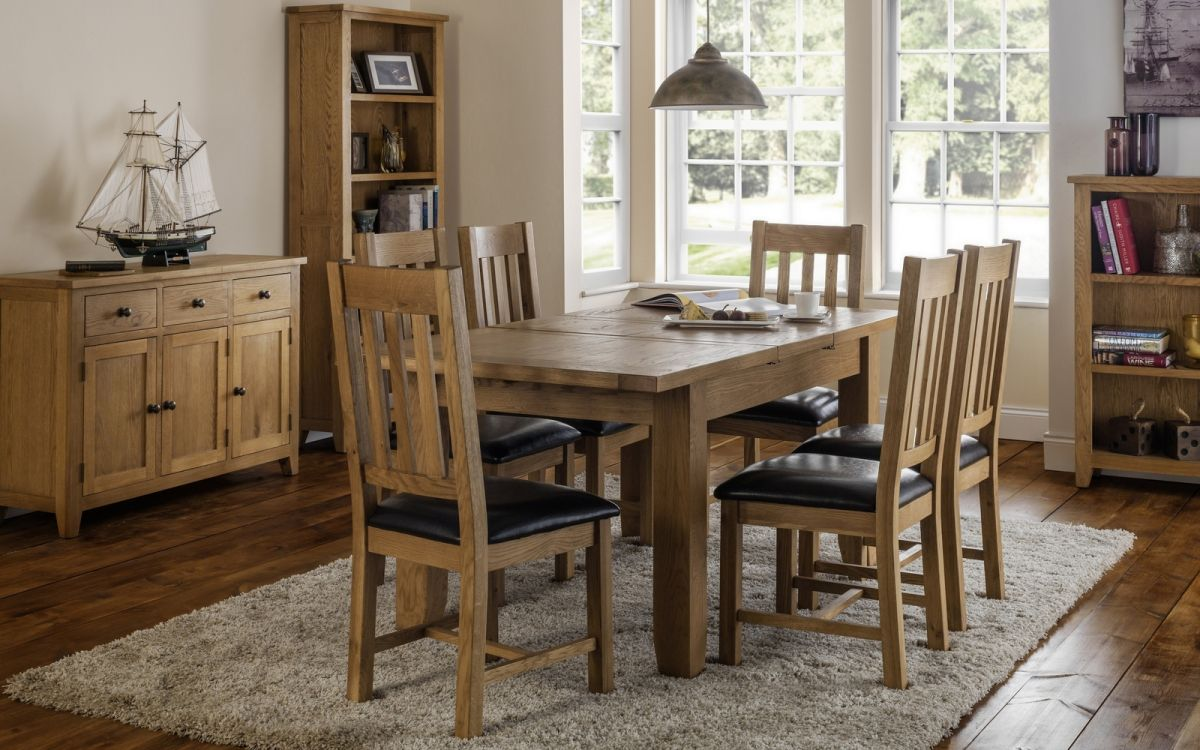 Astoria Extending Oak Dining Set with 6 Chairs